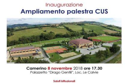 Inaugurazione ampliamento palestra/sala pesi del CUS Camerino