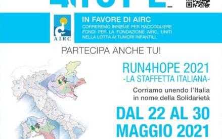 Run4Hope: la Staffetta italiana della Solidarietà